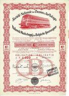 Titre Ancien- Société Nationale Des Chemins De Fer Belges (SNCB) - Obligation De 1955 - Ferrocarril & Tranvías