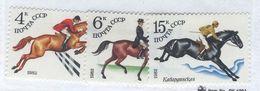 USSR/RUSSIA 1982 Equestrian Sports; Scott Catalogue No(s). 5016-5018 MNH - Chevaux