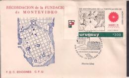 Uruguay - 1974 - FDC - 250 Años De La Fortificación De Montevideo - Cygnus - Uruguay