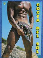 CPM Souvenir Costa Del Sol Humour Grivois Nu Masculin Avec éventail - 13/18 Cm Non Voyagée - Humour