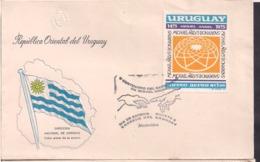 Uruguay - 1975 - FDC - V Centenario Del Nacimiento Del Miguel Angel - Cygnus - Uruguay