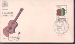 Uruguay - 1974 - FDC - Tres Gauchos Orientales - Cygnus - Uruguay