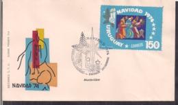 Uruguay - 1974 - FDC - Navidad 1974 - Cygnus - Uruguay