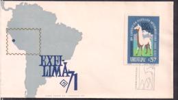 Uruguay - 1971 - FDC - Exfi Lima 71 - Cygnus - Uruguay