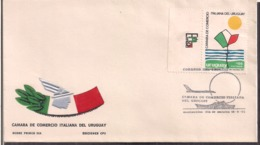 Uruguay - 1973 - FDC - Camara De Comercio Italiana Del Uruguay - Cygnus - Uruguay
