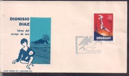 Uruguay - 1972 - FDC - Dionisio Diaz - Héroe Del Arroyo De Oro - Cygnus - Uruguay