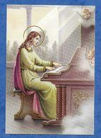 CP Sainte Cecilia Sainte Cécile Jouant Du Piano - Non Voyagée Série Sanctus 30 - Santi