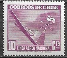 Chile 1947 Aereo MI 256  ** Mnh - Cile
