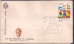 Uruguay - 1970 - FDC - Año Internacional De La Educación - Cygnus - Uruguay
