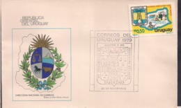 Uruguay - 1979 - FDC - Intendencia Durazno - Cygnus - Uruguay
