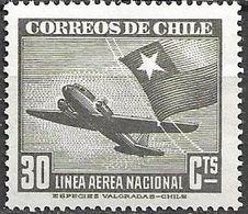 Chile 1945 Aereo MI 291  ** Mnh - Chile