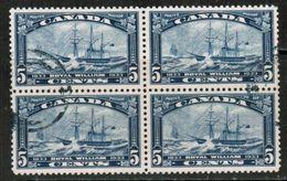 CANADA  Scott # 204 VF USED BLOCK Of 4 (Stamp Scan # 702) - 1911-1935 Reinado De George V