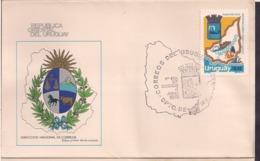 Uruguay - 1979 - FDC - Departamento De Maldonado - Cygnus - Uruguay