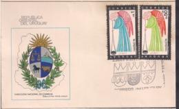 Uruguay - 1978 - FDC - Navidad 78 - Cygnus - Uruguay