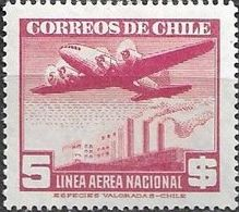 Chile 1944 Aereo MI 307  ** Mnh - Chile