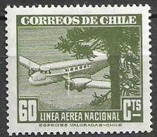 Chile 1941 Aereo MI 267  ** Mnh - Chile