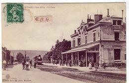 MONTBARD (Côte D'or) Le Train Arrivant En Gare écrite  22.08.1908 - Montbard
