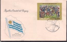 Uruguay - 1975 - FDC - Batalla De Sarandi - Cygnus - Uruguay