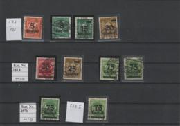 DR Kleines Lot Gest. Infla Geprüfte Marken (3) - Used Stamps
