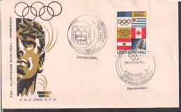 Uruguay - 1976 - FDC - Match Pré-olympique De Montréal - Innsbruck - Cygnus - Verano 1976: Montréal