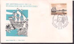 Uruguay - FDC - 1976 - 250 Aniversario De La Fundación De Montevideo - Cygnus - Uruguay