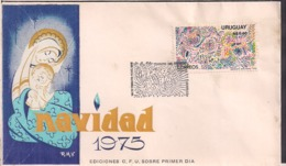 Uruguay - FDC - 1975 - Navidad 75 - Cygnus - Uruguay