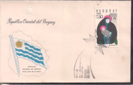 Uruguay - 1976 - FDC - Navidad 1976 - Cygnus - Uruguay