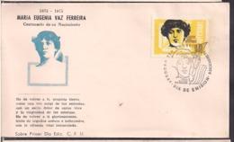 Uruguay - 1975 - FDC - Maria Eugenia Vaz Ferreira - Cygnus - Uruguay