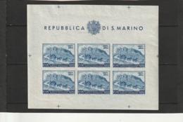 SAN MARINO Neuf  Bloc 75 Eime Anniversaire De L'Union Postale Universelle N°73A Bloc N°5 Côte 500€ RARE - Unused Stamps