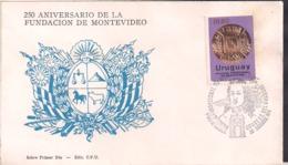 Uruguay - 1976 - FDC - 250 Aniversario De La Fundación De Montevideo - Cygnus - Uruguay