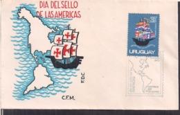 Uruguay - 1972 - FDC - Dia Del Sello De Las Americas - Cygnus - Uruguay