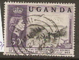 Uganda  1962  SG 62  50c   Fine Used - Uganda (1962-...)