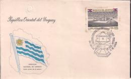 Uruguay - 1977 - FDC - Mausoleo De Artigas - Cygnus - Uruguay
