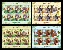 Romania 2020 Mih. 7709/12 Fauna. Squirrels (4 M/S) MNH ** - 1948-.... Republics