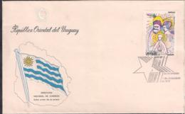 Uruguay - 1977 - FDC - Navidad 77 - Cygnus - Uruguay
