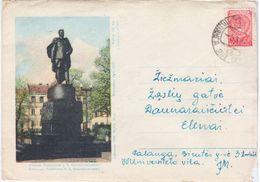 Lithuania Lietuva USSR 1958 Vilnius, Monument To Ivan Chernyakhovsky, Canceled In Palanga, Ziezmariai - Lituanie