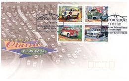 (C 34) Australia - FDC - 1997 - Classic Cars (2 Covers) - Ersttagsbelege (FDC)