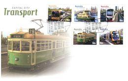 (C 34) Australia - FDC - 2012 - Capital City Transport (Tramway Etc) - Ersttagsbelege (FDC)