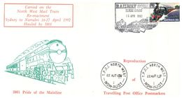 (C 34) Australia - Carried On The North West Mail Train - 1992 (Sydney To Narrobri) - Trains