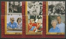 Guernsey 1997 Königin Elisabeth II. Prinz Philip Goldene Hochzeit 753/58 Postfr. - Guernsey