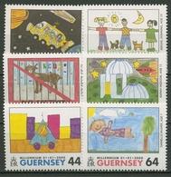 Guernsey 2000 Millennium Malwettbewerb Kinderzeichnungen 839/44 Postfrisch - Guernsey