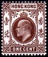 1907-1911. HONG KONG. Edward VII ONE CENT. Hinged. (Michel 91) - JF364496 - Hong Kong (...-1997)