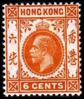 1912. HONG KONG. Georg V 6 CENTS. Hinged. (Michel 101) - JF364502 - Hong Kong (...-1997)