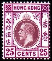 1912. HONG KONG. Georg V 25 CENTS. Hinged. (Michel 106 I) - JF364507 - Hong Kong (...-1997)