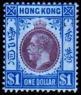 1912. HONG KONG. Georg V ONE DOLLAR. Hinged. (Michel 109) - JF364511 - Hong Kong (...-1997)