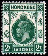 1921-1926. HONG KONG. Georg V TWO CENT. Hinged. (Michel 115) - JF364513 - Hong Kong (...-1997)