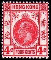 1921-1926. HONG KONG. Georg V FOUR CENT. Hinged. (Michel 116) - JF364514 - Hong Kong (...-1997)