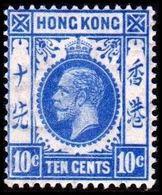 1921-1926. HONG KONG. Georg V TEN CENT. Hinged. (Michel 118) - JF364516 - Hong Kong (...-1997)