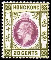 1921-1926. HONG KONG. Georg V 20 CENT. Hinged. (Michel 119) - JF364517 - Hong Kong (...-1997)