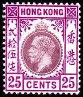 1921-1926. HONG KONG. Georg V 25 CENT. Hinged. (Michel 120) - JF364518 - Hong Kong (...-1997)